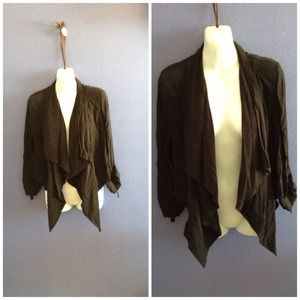 Black blazer long front short back
