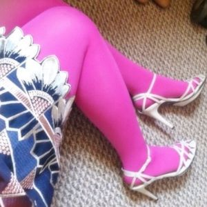 By Kenzie Tights Bright Pink Opaque