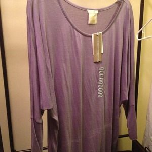 Trendy dolman sleeve tunic