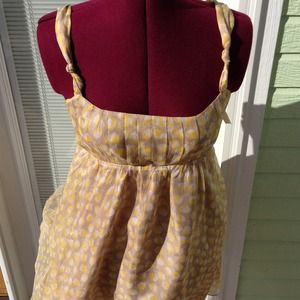 Arden B Dresses & Skirts - Arden B. 100% silk yellow flower dress