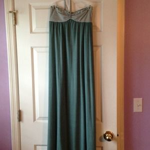 Seafoam green maxi dress