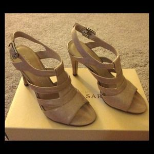 🔸REDUCED 🔸 Franco Sarto lt. nude leather sandals