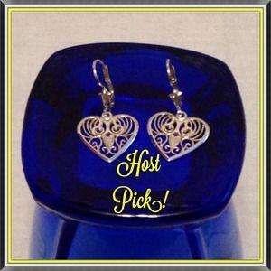 Host Pick Vintage 925 Sterling Silver Earrings