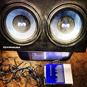 magnum Other - Two 12 inch sub woofers and the Amp for the Subs
