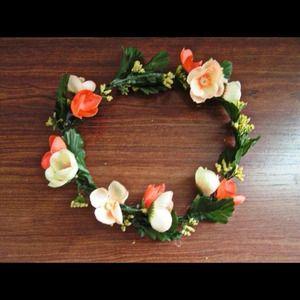 Other - Bright Orange and Pink Flower Headdress