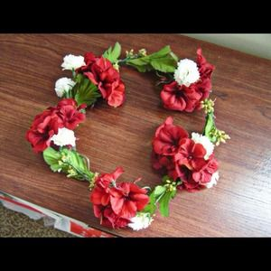 Other - Red And White Flower Headdress