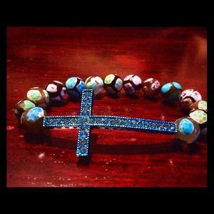 Jewelry - Sideways Cross Bracelet