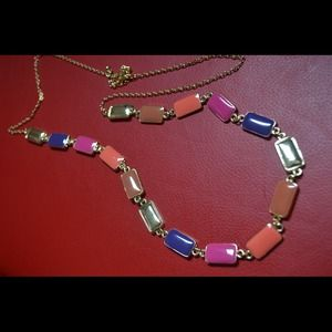 Rectangle multicolor necklace