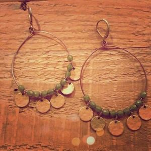 Express Jewelry - Bollywood inspired beaded hoop earrings
