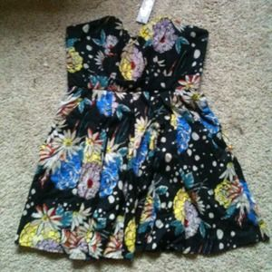 foley and corinna sweetheart floral dress