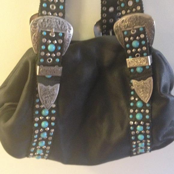 89 charm and luck handbags black leather charm