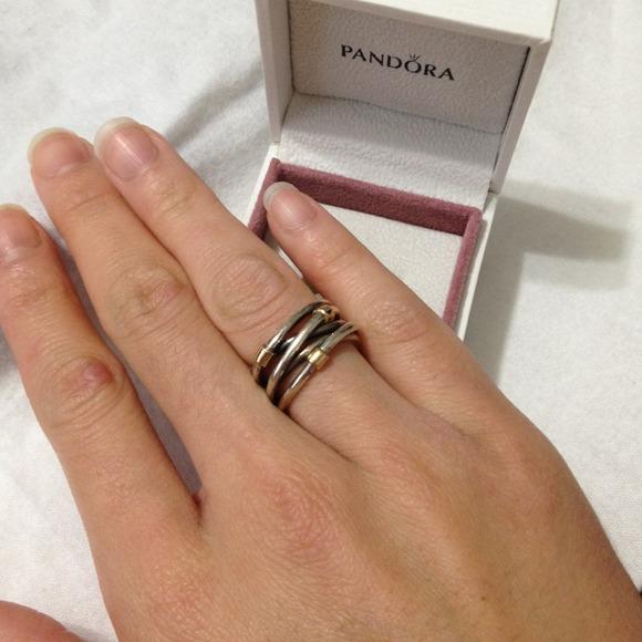 Pandora Silver Rope Ring