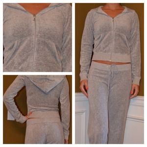Gray Juicy Couture velour hoodie