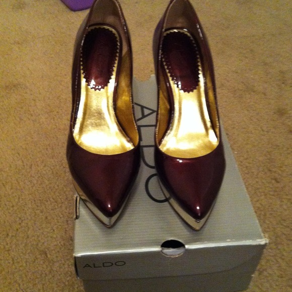 ALDO Shoes - Burgundy patent leather ALDO heels