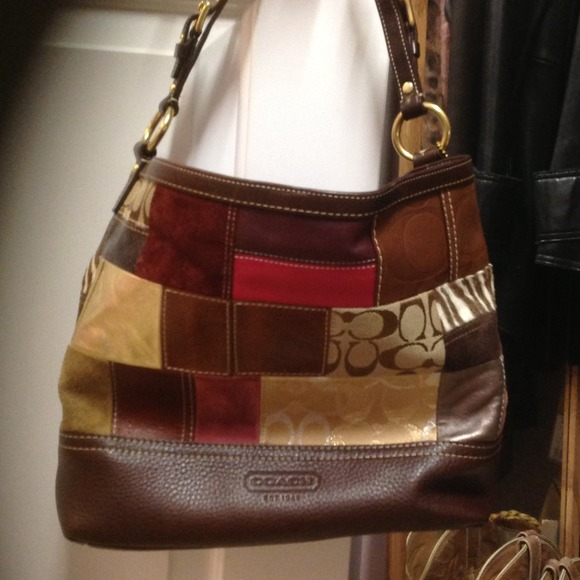 Coach Handbags - Authentic Coach patchwork leather handbag