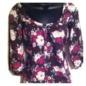 FLORAL H&M button down shirt!!