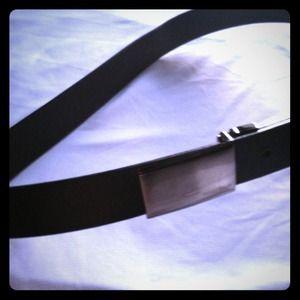 Men's 38 perry Ellis black/brown belt