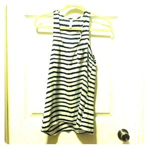 **Reduced!** Blue/white striped tank