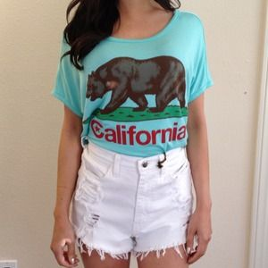 Tops - California Bear Crop Top