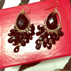 Cute black beaded earrings