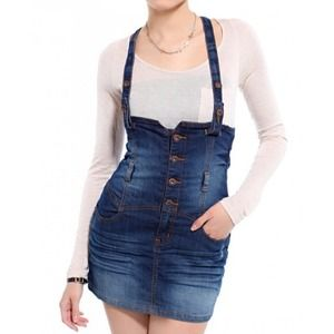 57% off Dresses & Skirts - Jean overall skirt from Melissa's ...