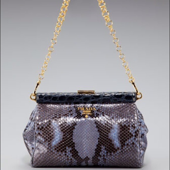 58% off Prada Handbags - ??HOST PICK?? Prada Python Frame-Chain ...