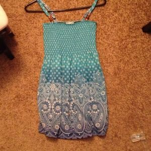REDUCEDTurquoise blue long tank top