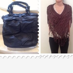 ⛔RESERVED⛔Vintage Phillip Lim Bag & Crochet Shawl
