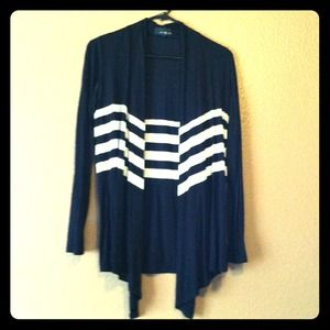 Outerwear - ✨Reduced✨Black and white stripe cardigan