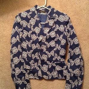 Designer Navy and white Embroidered Jacket!