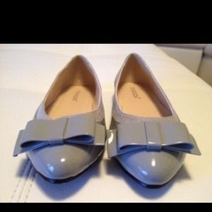 shoedazzle Shoes - Gray ballet slippers patent And suede material