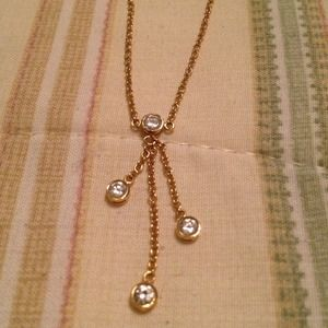 Faux Gold and Rhinestone Necklace