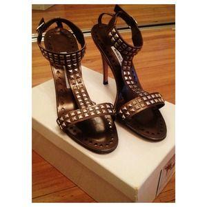 manolo blahnik studded heels