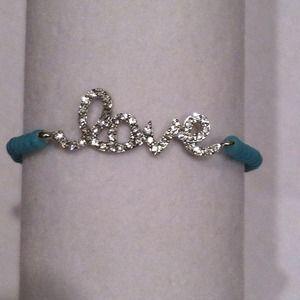 NWOT Turquoise Bead 'Love' Bracelet