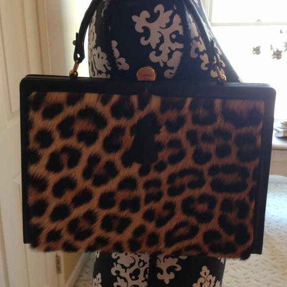 f6c1ea1a7e Vintage Genuine Leopard Fur Handbag by Prestige. M 51814e10e76a4472ba0100b8