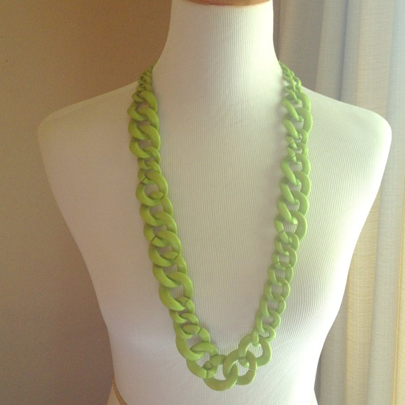 BaubleBar Jewelry - BaubleBar Lime Green Crayola Links Chunky Necklace