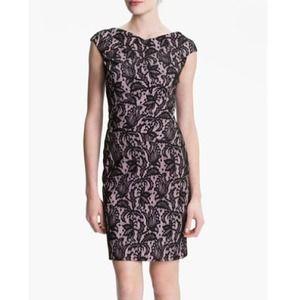 NWT Kay Unger V back lace jacquard sheath dress!!