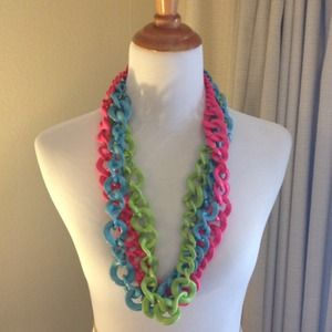 BaubleBar Jewelry - Hot Pink BaubleBar Crayola Links Necklace
