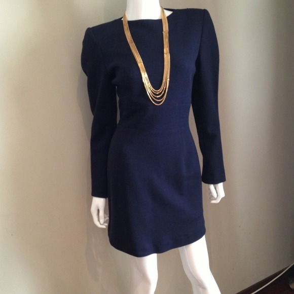 WEEKEND PROMO Claude Montana Vintage Navy Dress