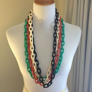 Target Jewelry - Green Target Acrylic Link Statement Necklace