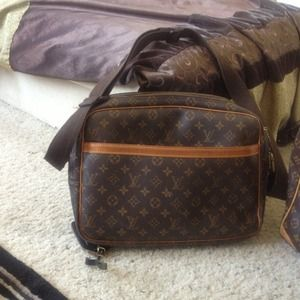 Original Louis Vuitton briefcase and bag.