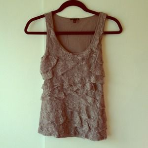 NWOT Express grey tiered top