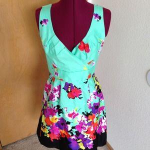 Spense Aqua Flower Dress