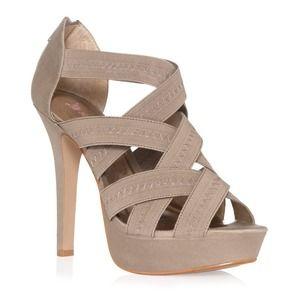 JustFab Portia size 6.5 sandals heels