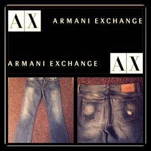 Reduced Armani Exchange size 8 women's boot cut