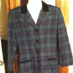 Vintage 80's Stephanie Andrews Dress Velvet Collar