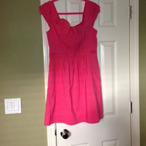 Bcbg pink scoop neck dress NWT