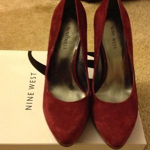 96b75fd5f4263 Nine West Shoes | Rocha Dark Red Suede | Poshmark