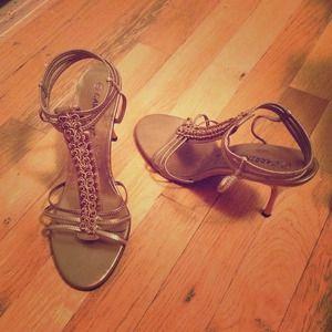 Bronze sandals/heels