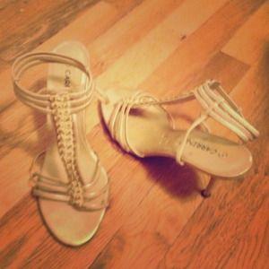 Gold sandals/heels